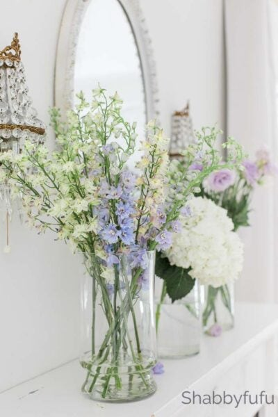 spring home decor mantel