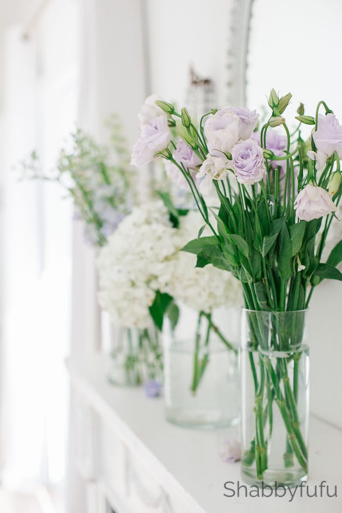 spring home decor flowers