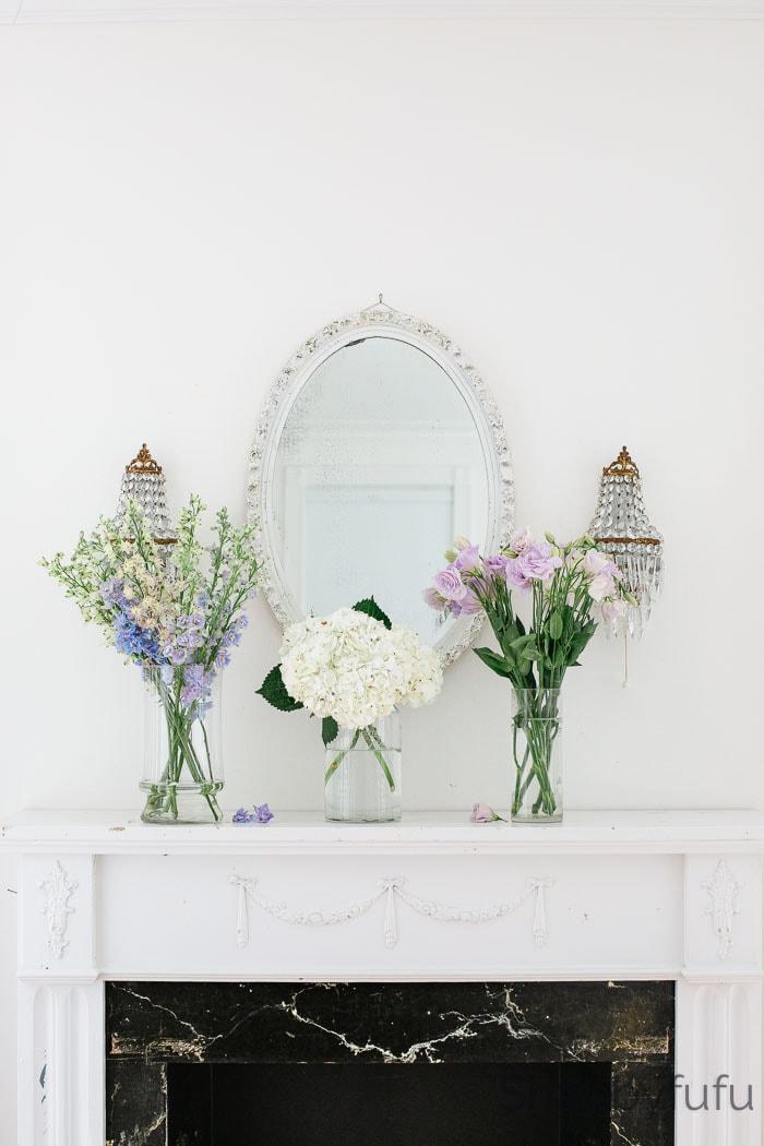 spring home decor mantel