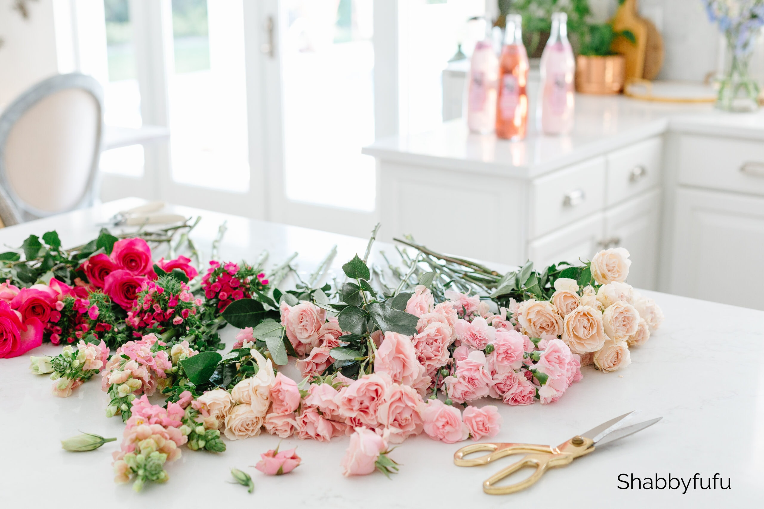 Simple flower arranging tips shabbyfufu