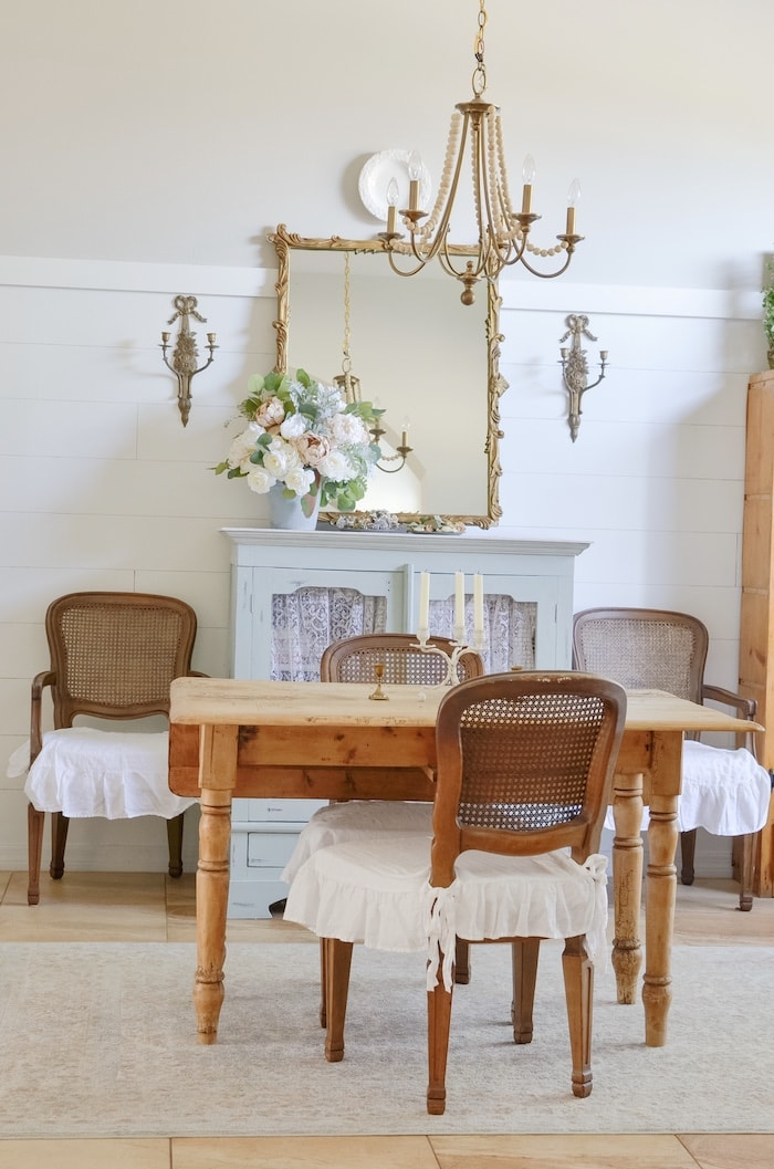 french country cottage style dining room