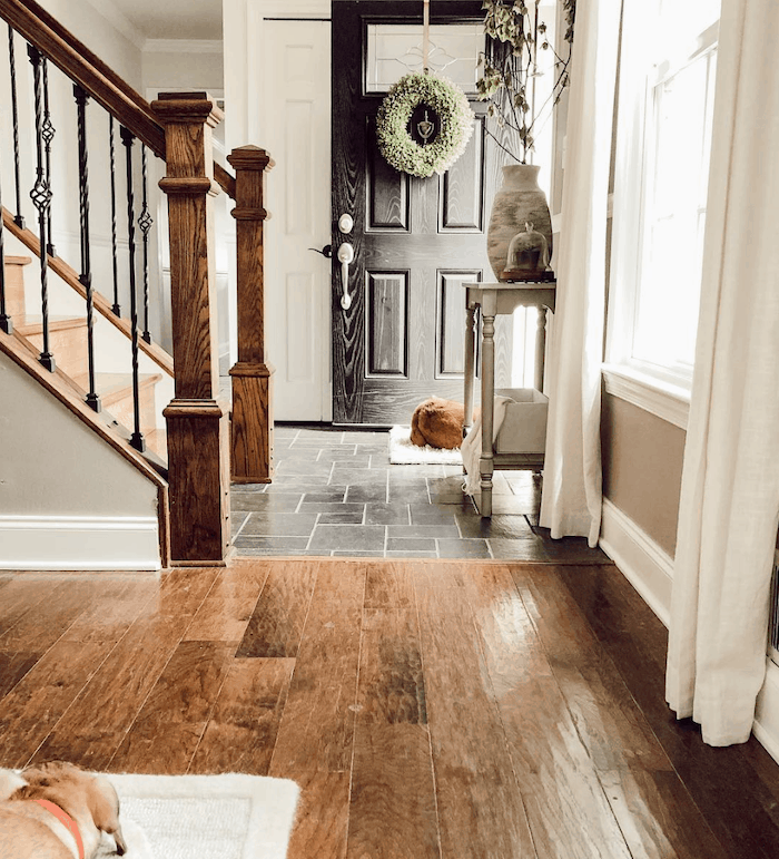 savvy renovations home tour entry foyer
