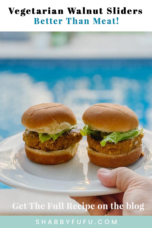 Vegetarian Walnut Slider Burgers – Better Than Meat!