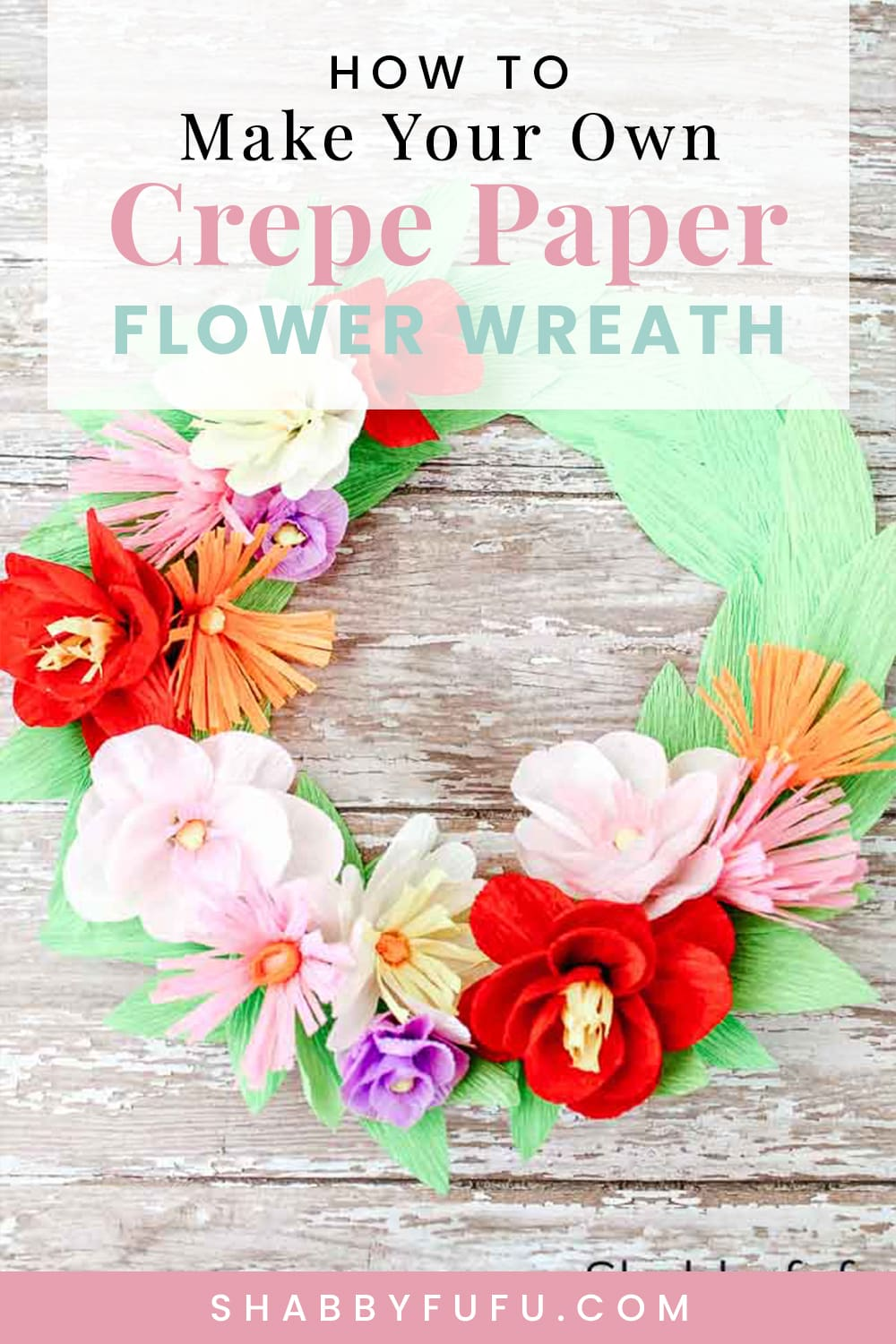 how to make a paper plate craft crepe paper flower wreath