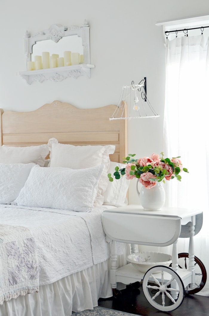 french country cottage style bedroom