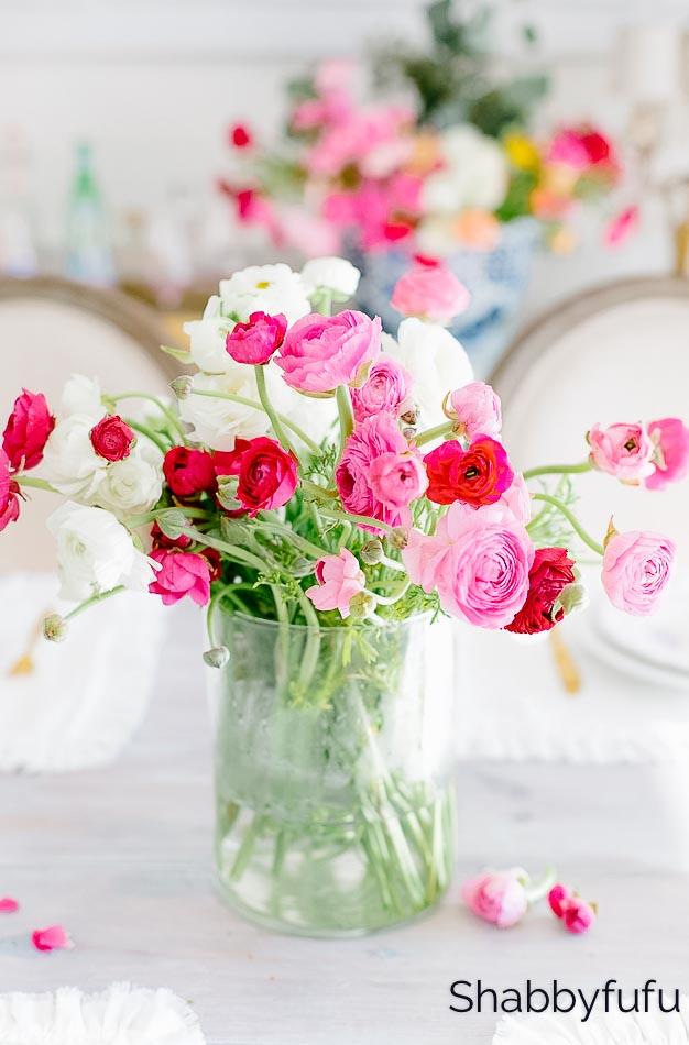 find joy spread happiness ranunculus flowers shabbyfufu