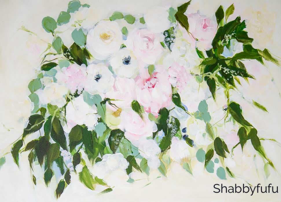 melissa lyons art wedding bouquet painting