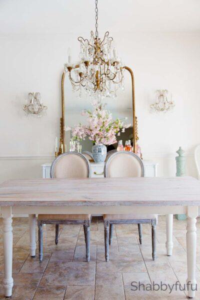 white wash a farmhouse table