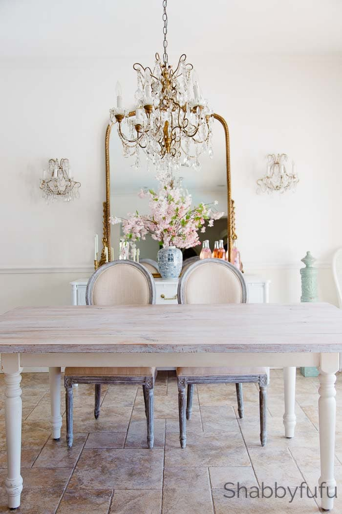 white wash a farmhouse table