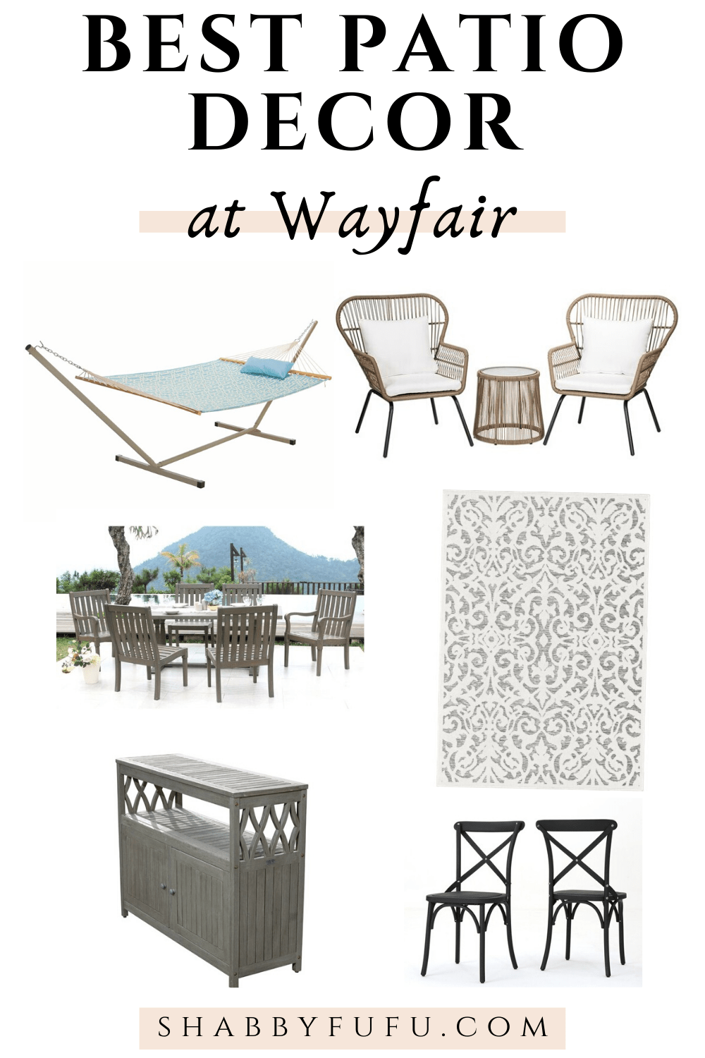 the best patio furniture and decor at Wayfair