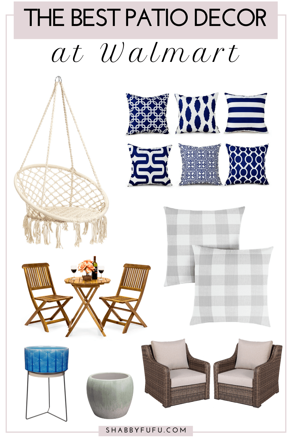 the best patio furniture and decor from Walmart