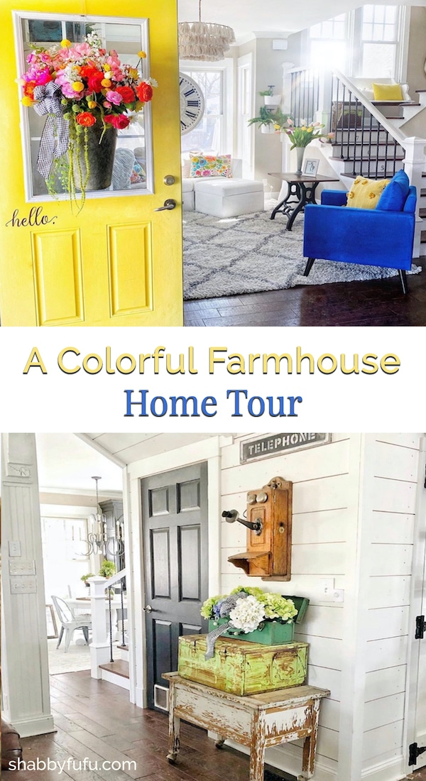 Colorful Farmhouse Style Home Tour of The Pickled Rose