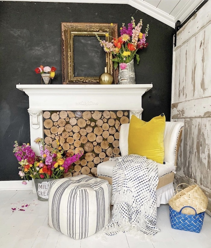 faux fireplace ideas 100 year old home