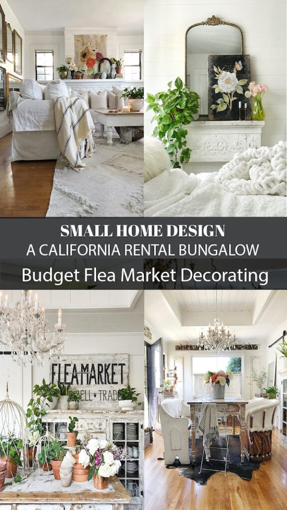 budget decorating in a 100 year old California rental bungalow