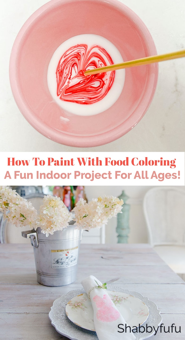 how to paint with pink food coloring