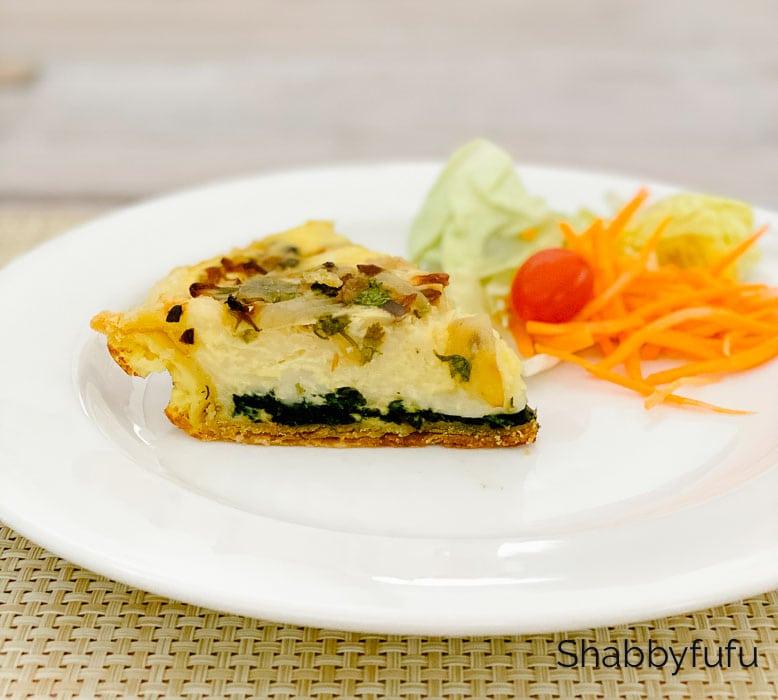 dairy free spinach quiche