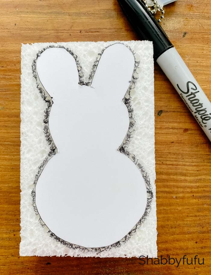 Easter bunny stamping template