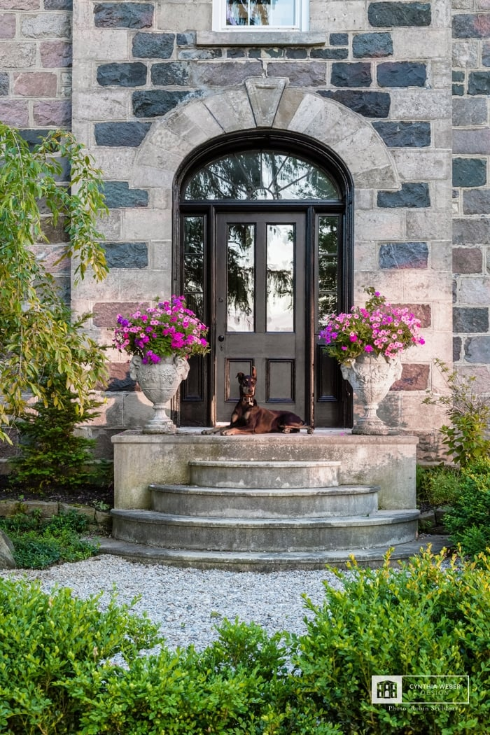 interior designer Cynthia Weber's heritage home front porch