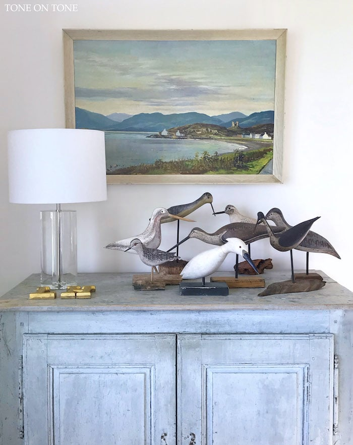 Maine cottage home tour shorebirds collection