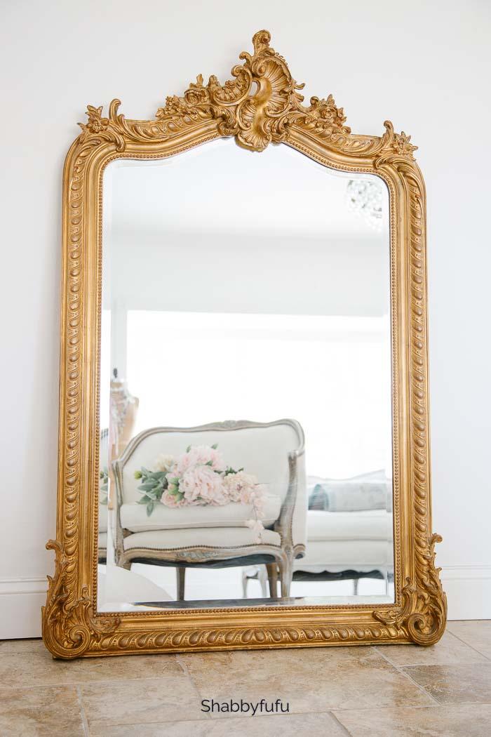 antique french floor mirror Shabbyfufu.com