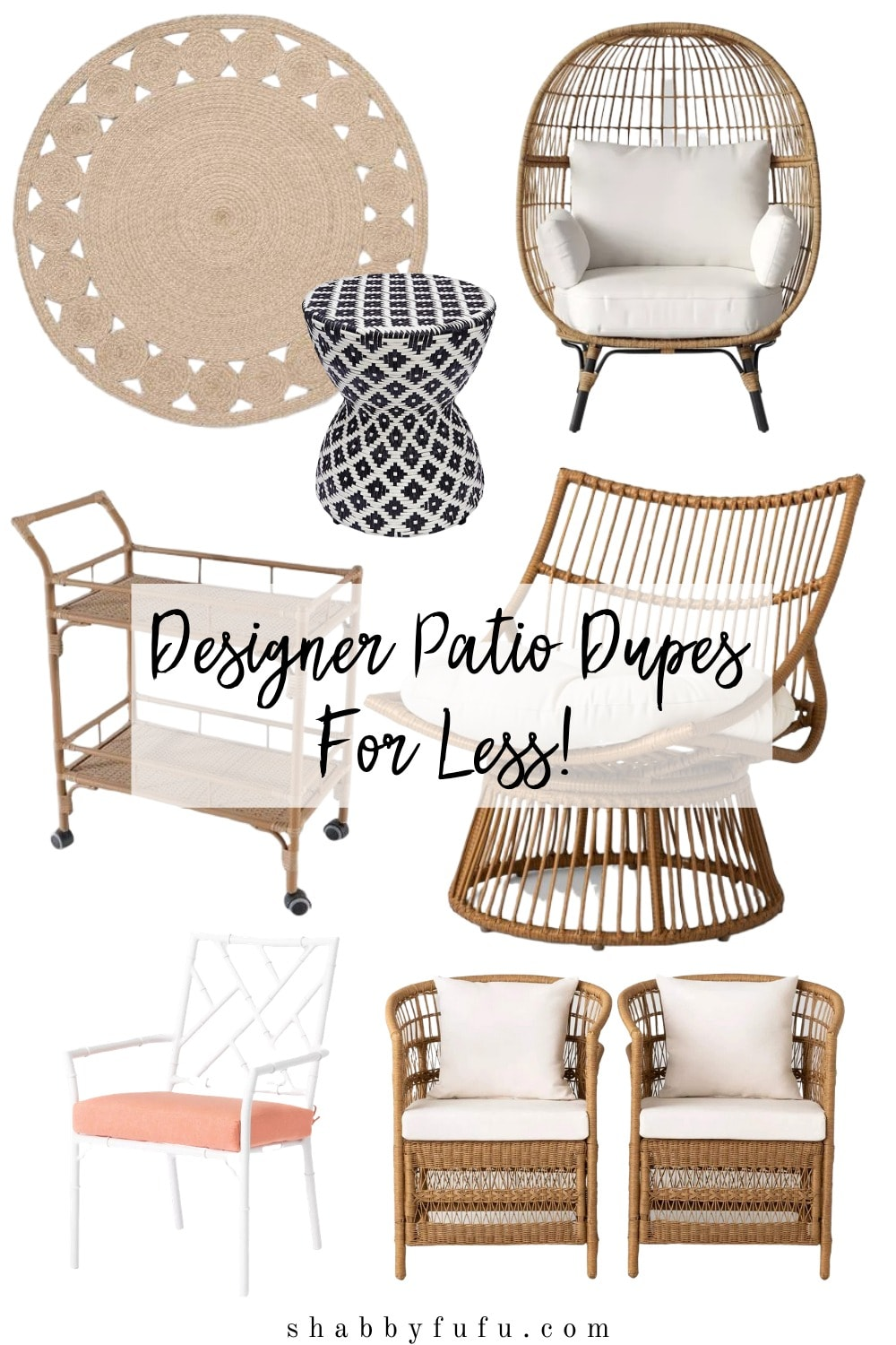 designer patio look for less
