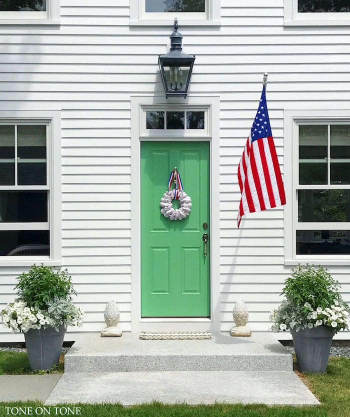 Maine cottage home tour green door