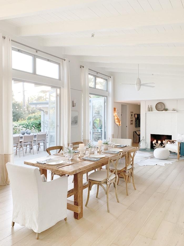 open concept white home Santa Barbara