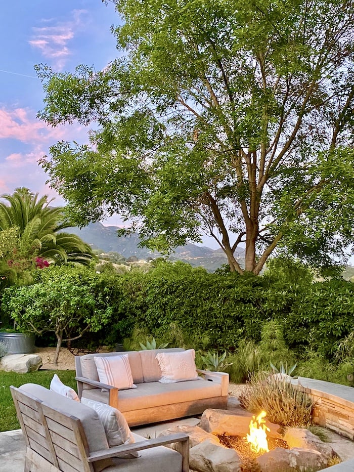 Santa Barbara home with mountain view