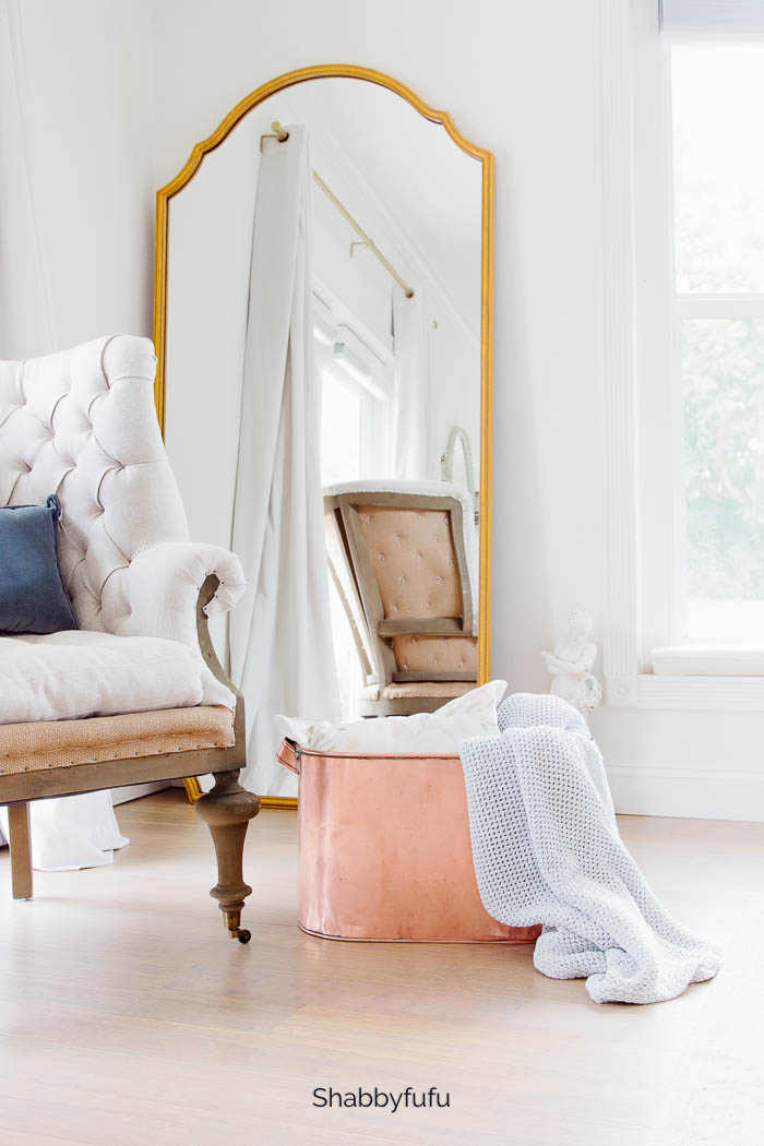 master bedroom with vintage french decor