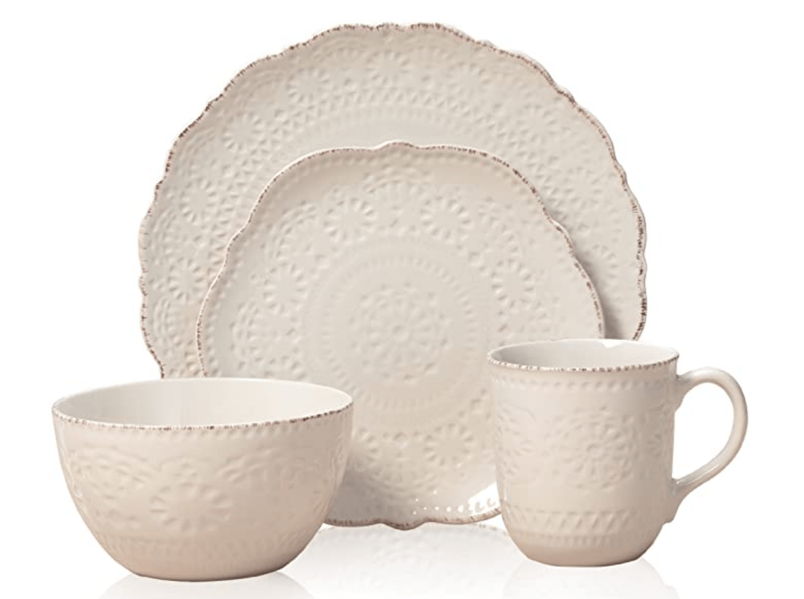 budget lace looking dinnerware