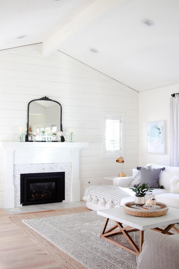 modern glam decor home living room