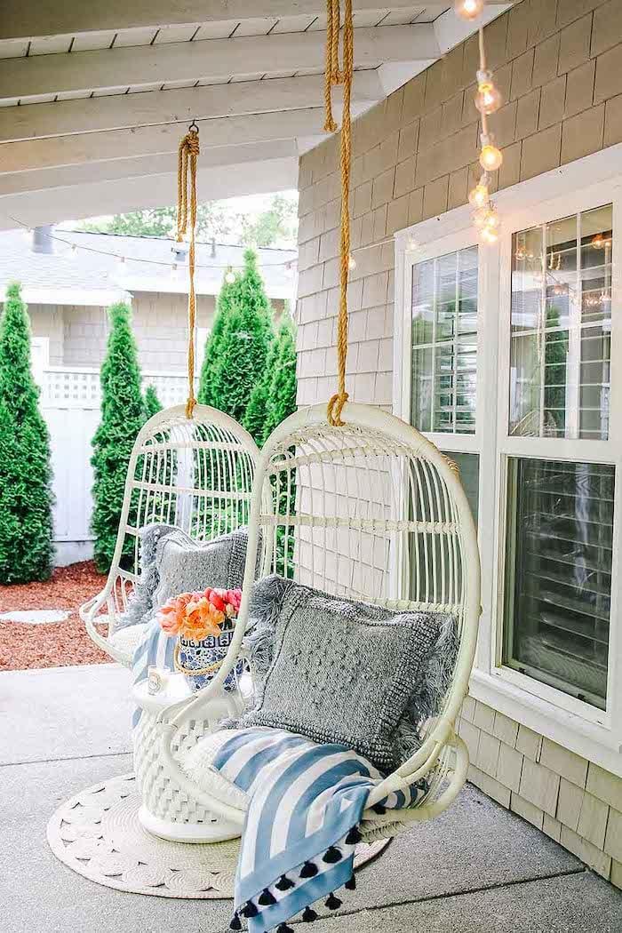 modern glam decor home tour front porch