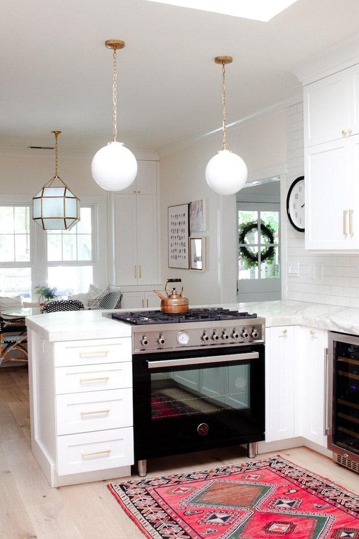 modern glam home tour kitchen