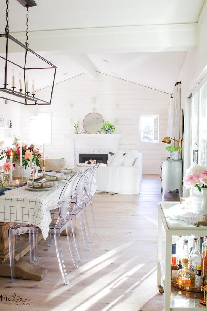 dining room modern glam decor home tour