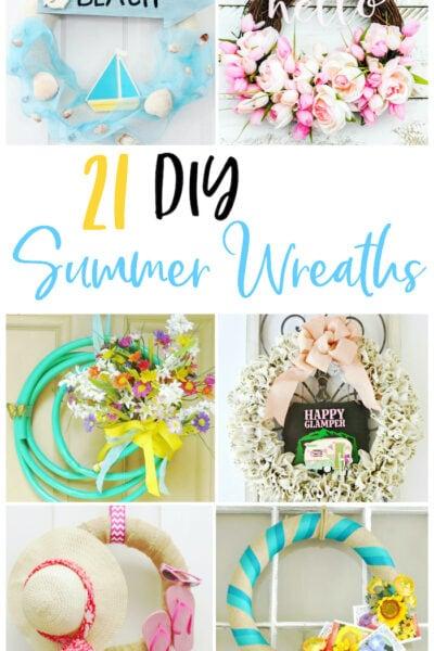 cute summer wreaths to diy shabbyfufu.com