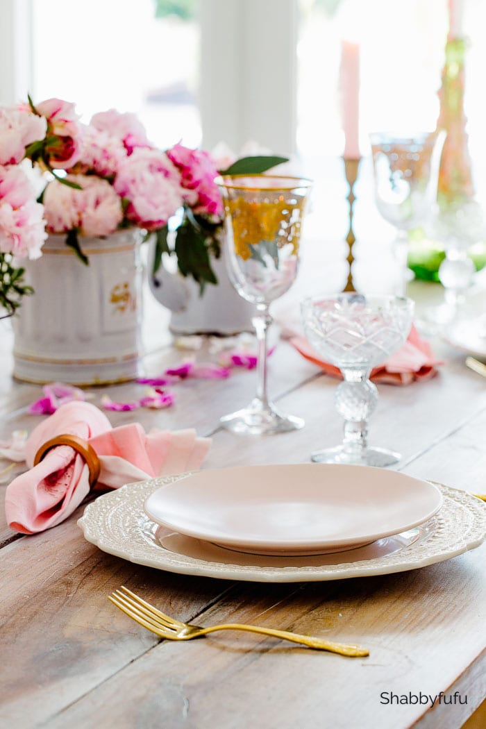 french style table setting for two