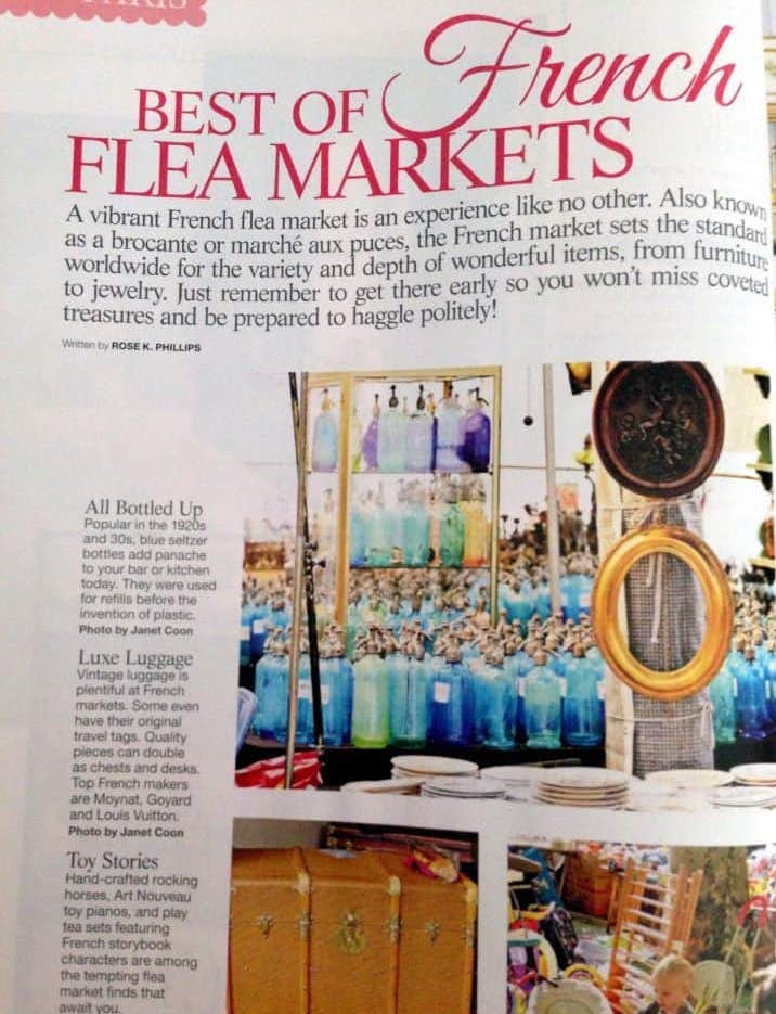 flea market modern french country design