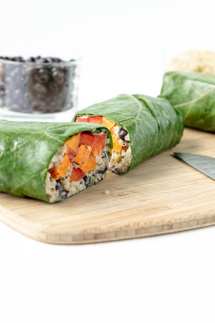 sweet potato wraps recipe wrapped in greens