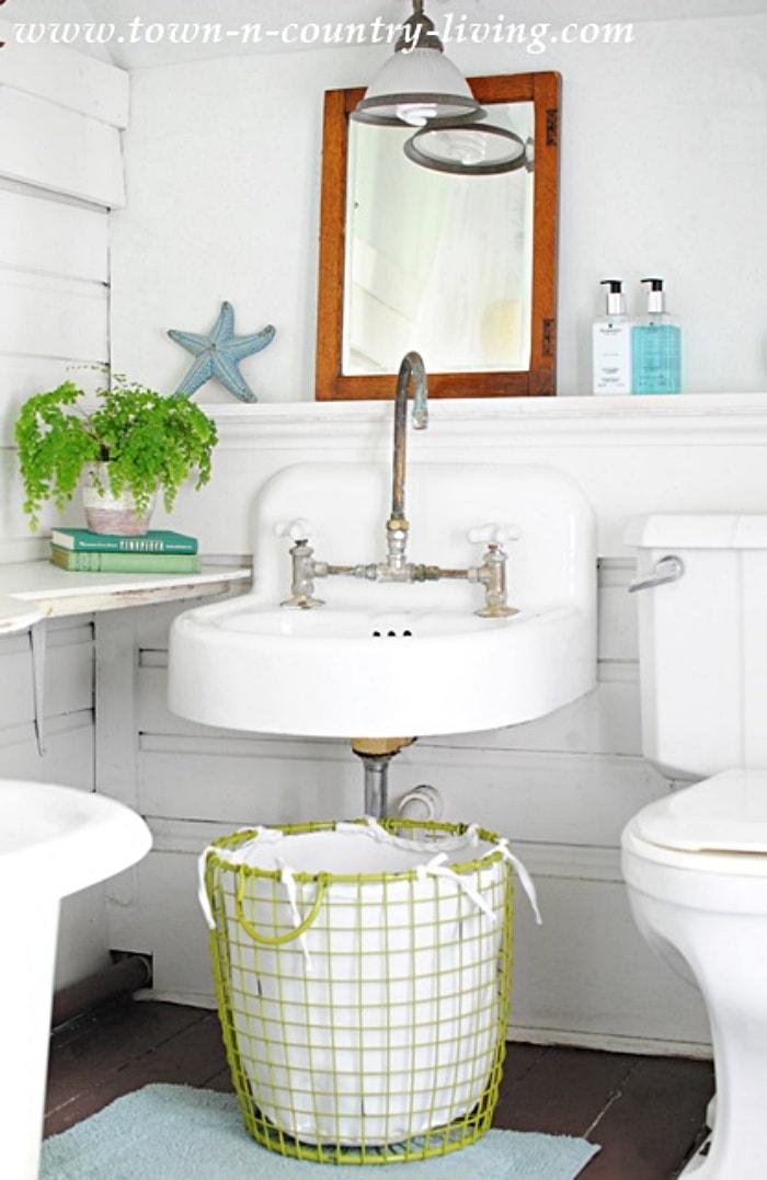 bathroom with vintage sink
