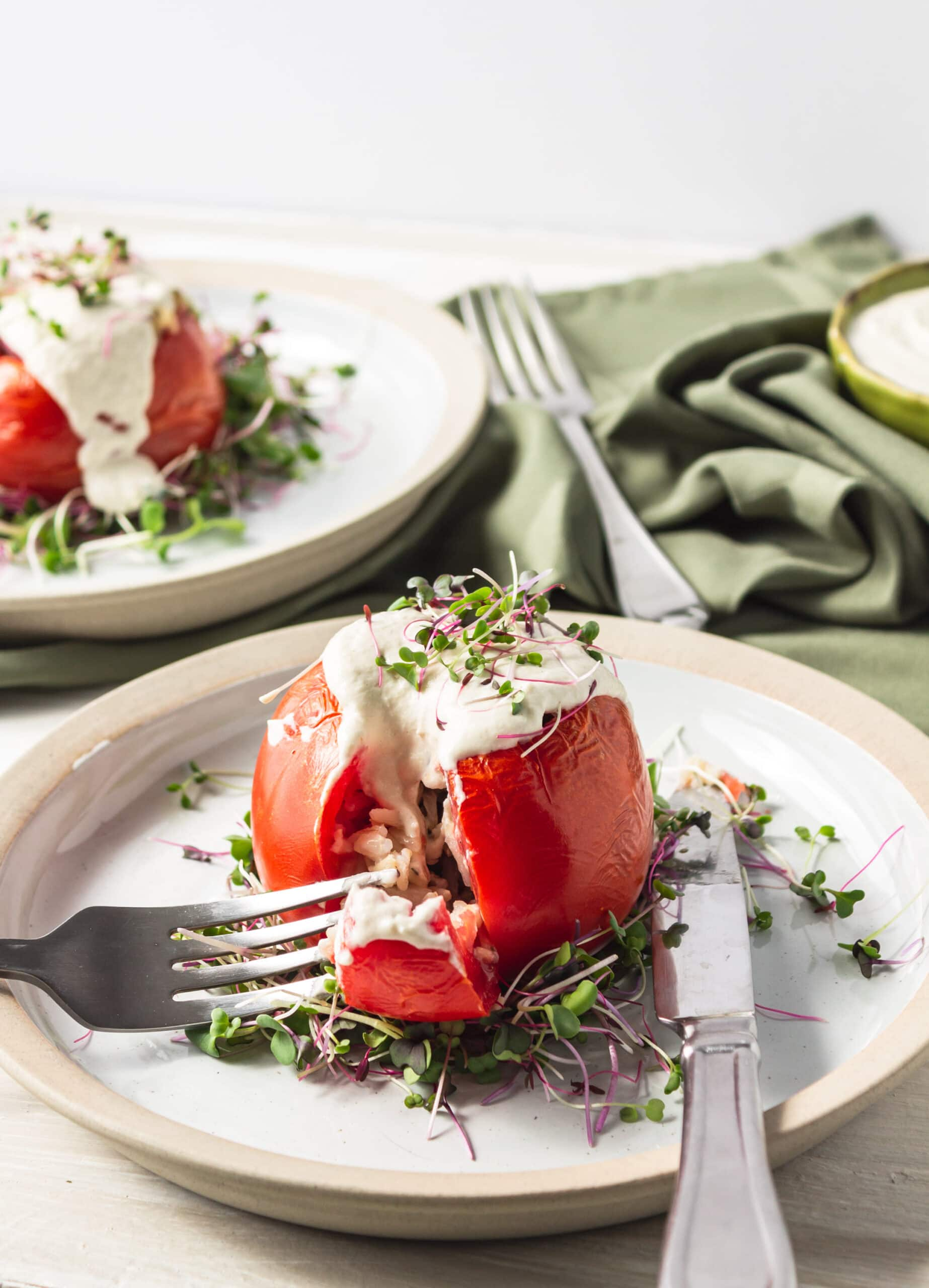vegan stuffed tomato recipe