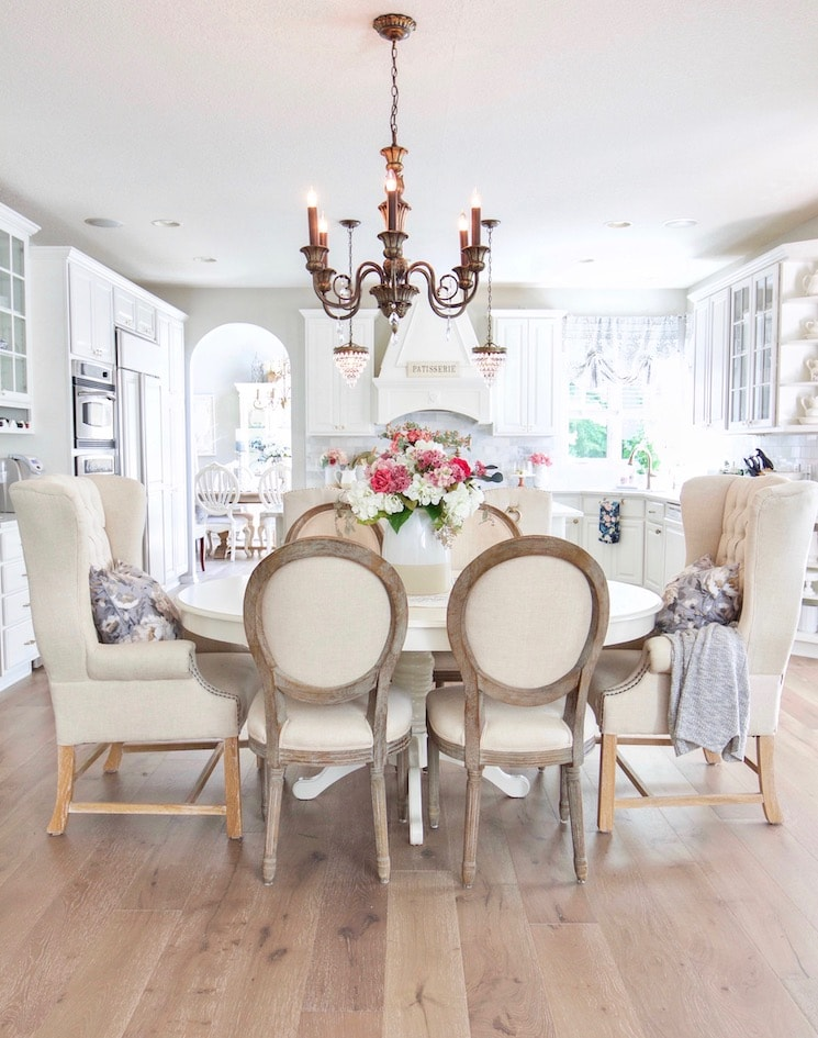 modern french farmhouse dining room