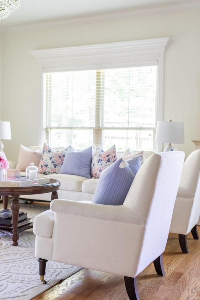 summer living room transitional home decor