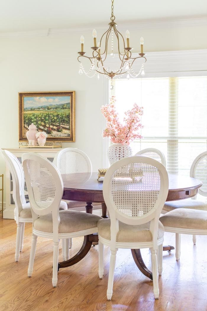 french country transitional decor dining room
