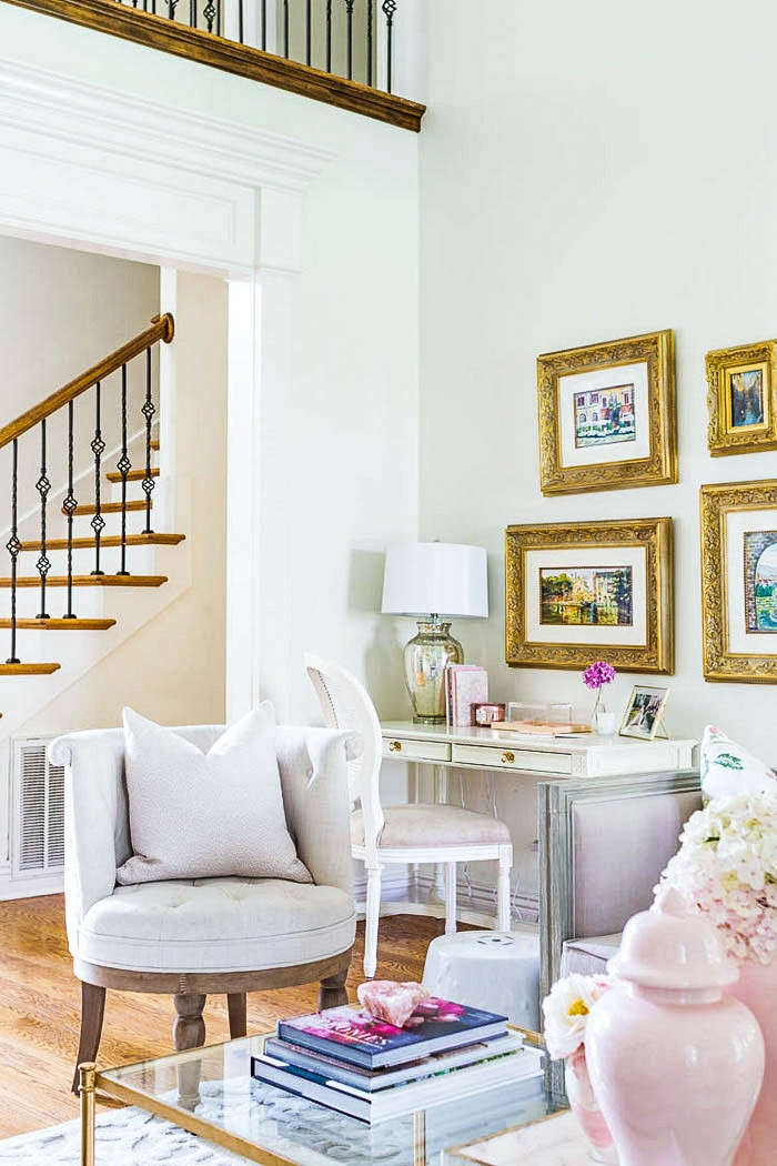 transitional home decor living room jennifer maune tour