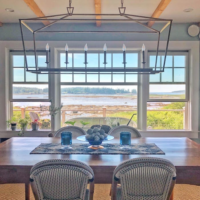 coastal home in Maine with a water view