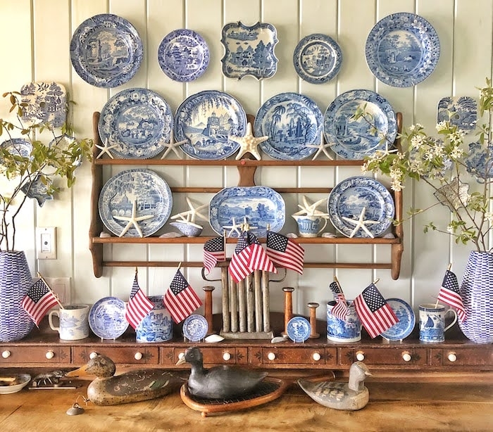 blue and white transferware collection