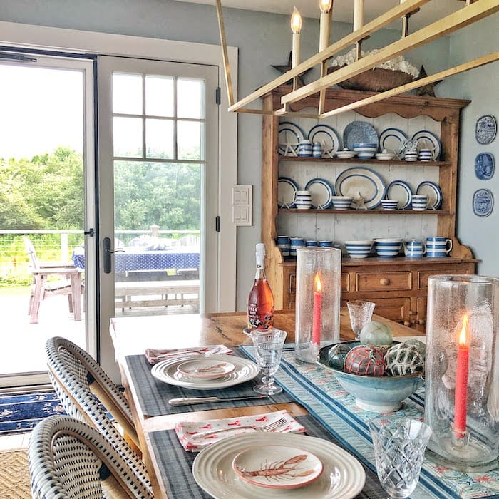 coastal home in Maine dining room
