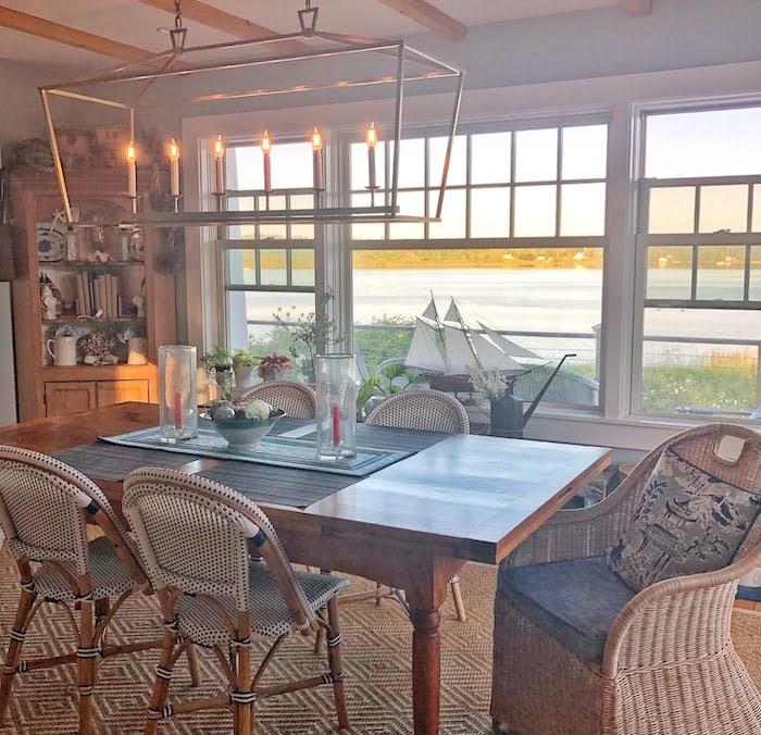 farmhouse table molly in maine