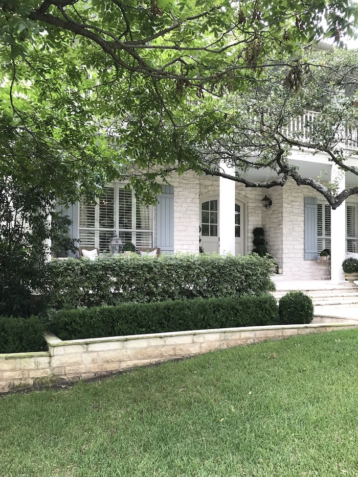 designer French chic home front porch