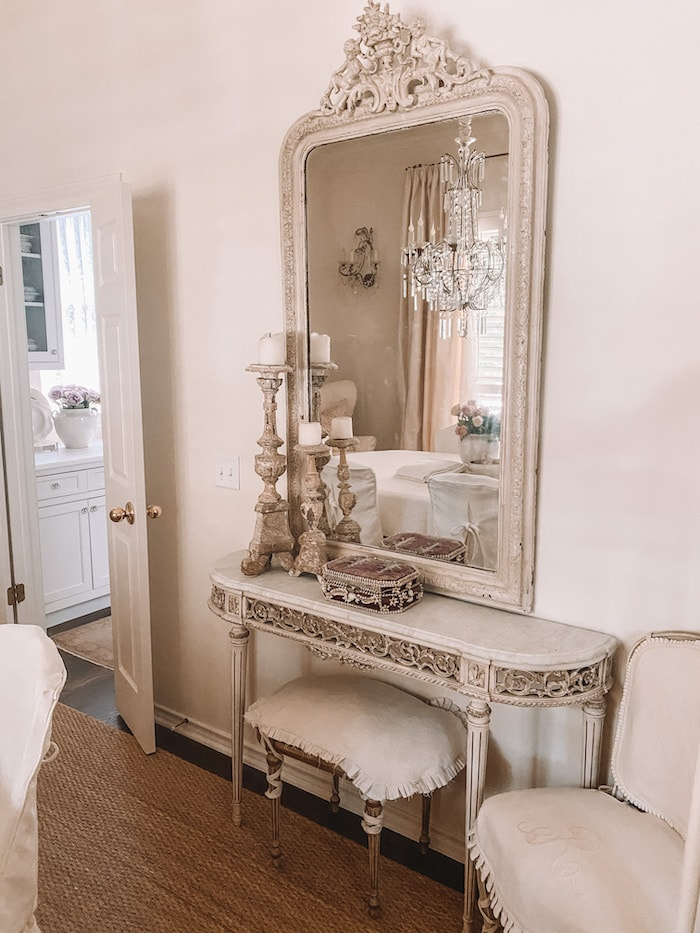 designer French chic home french mirror